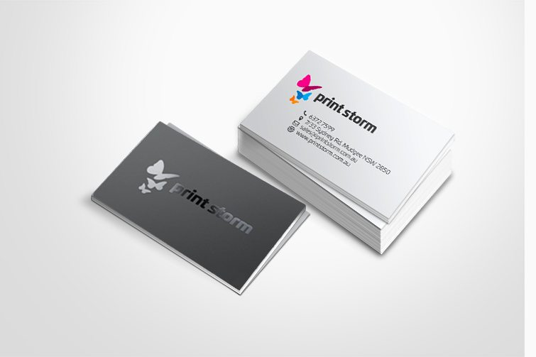 Business Cards With Spot Lamination Sunrise Digital Printers In
